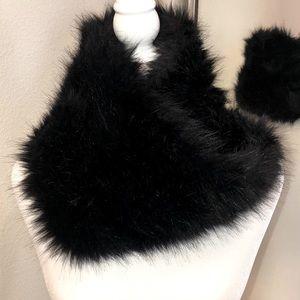 Infinity fake fur scarf one size